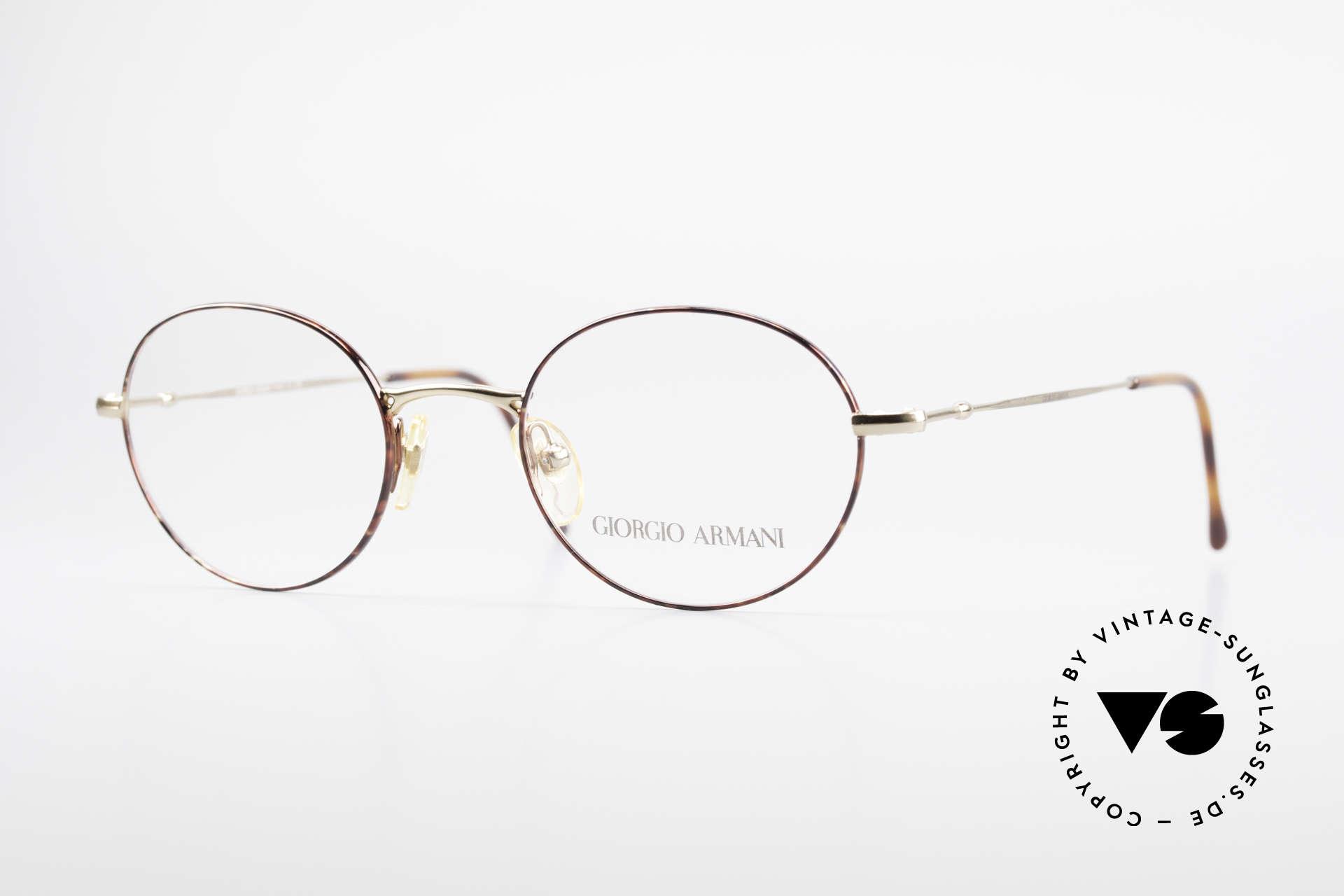 Giorgio Armani 252 Alte Vintage Brille Oval 90er, ovale vintage Brillenfassung vom GIORGIO ARMANI, Passend für Herren und Damen