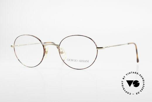 Giorgio Armani 252 Alte Vintage Brille Oval 90er Details