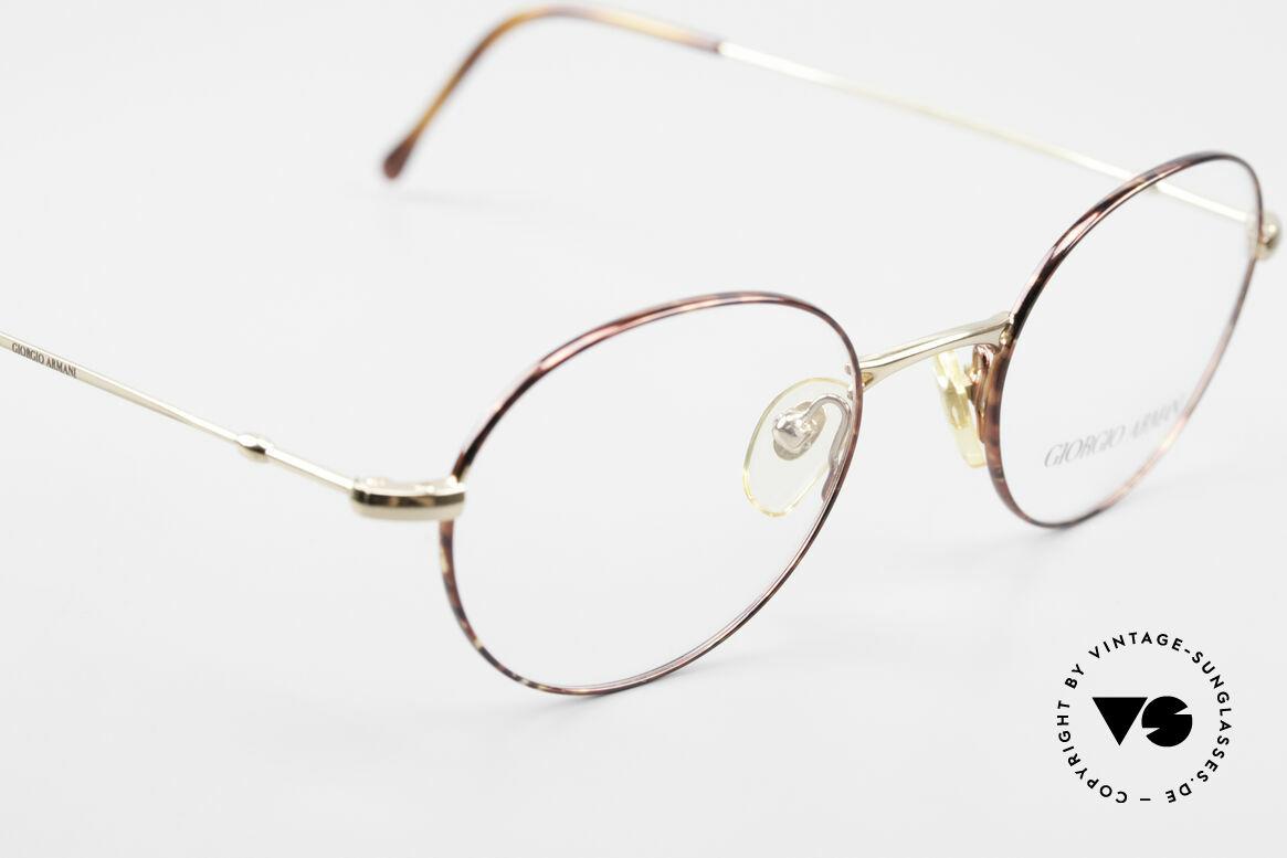 Giorgio Armani 252 Alte Vintage Brille Oval 90er, keine aktuelle Kollektion, sondern alte Originalware!, Passend für Herren und Damen