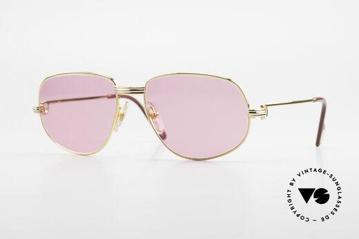 Cartier Romance LC - S Luxus Sonnenbrille Gucci Etui Details