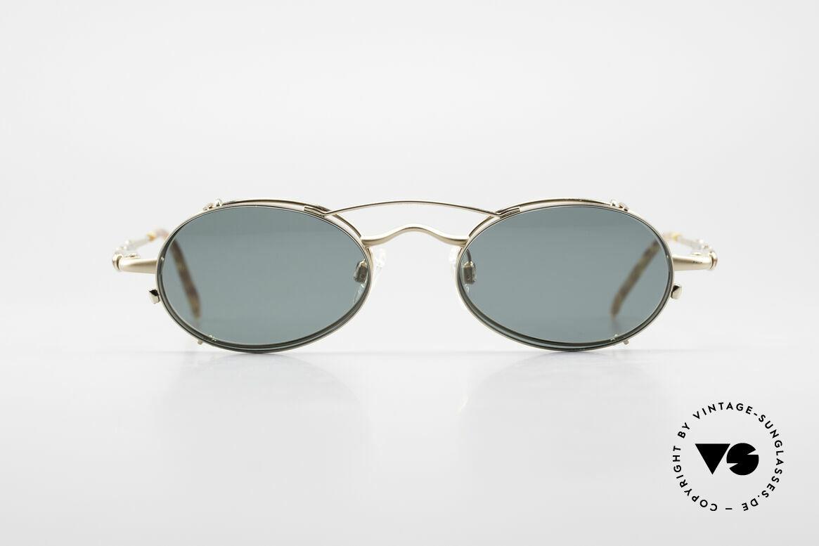Bugatti 29710 Vintage Brille Mit Sonnen Clip, klassische BUGATTI Fassung von circa 1996, Passend für Herren