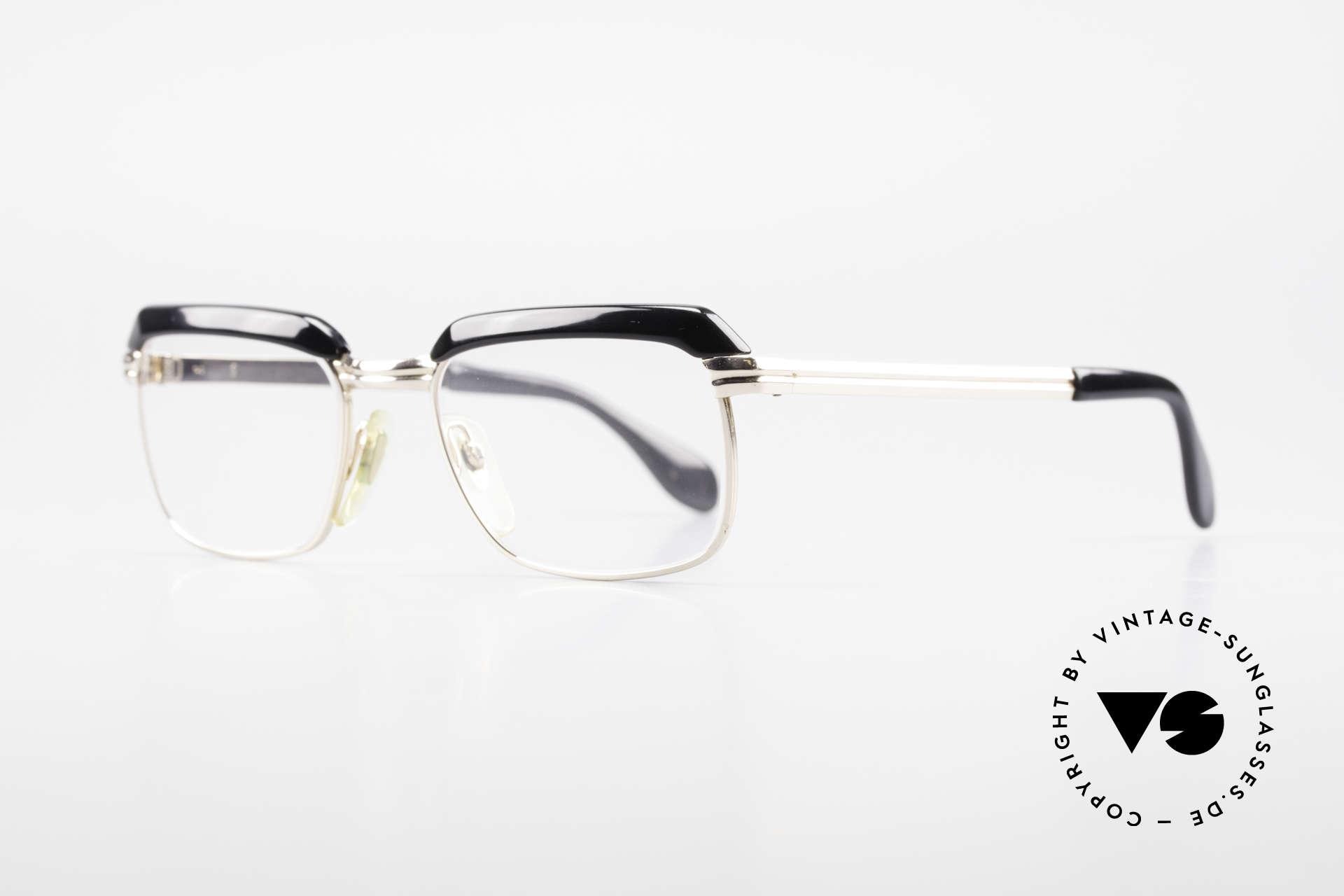 Metzler JK 60er Jahre Golddoublé Brille, 1/10 des Metalls sind 12kt Gold (Wahnsinns-Qualität), Passend für Herren