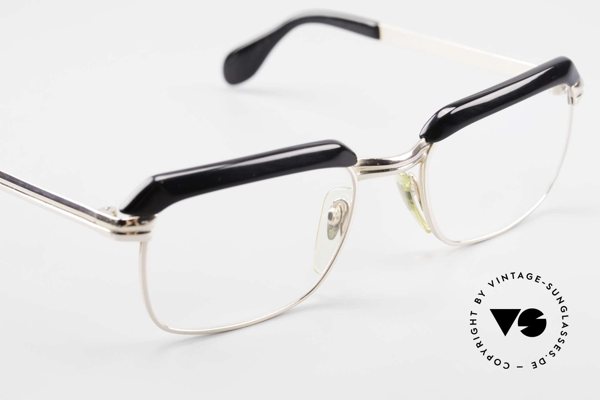Metzler JK 60er Jahre Golddoublé Brille, 2nd hand vintage Modell in einem exzellenten Zustand, Passend für Herren