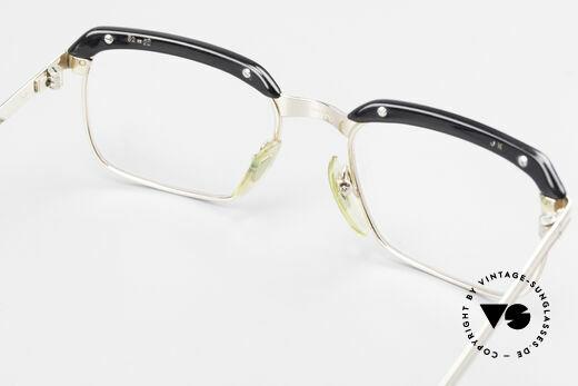 Metzler JK 60er Jahre Golddoublé Brille, top-professionell aufgearbeitet mit neuen Demogläsern, Passend für Herren