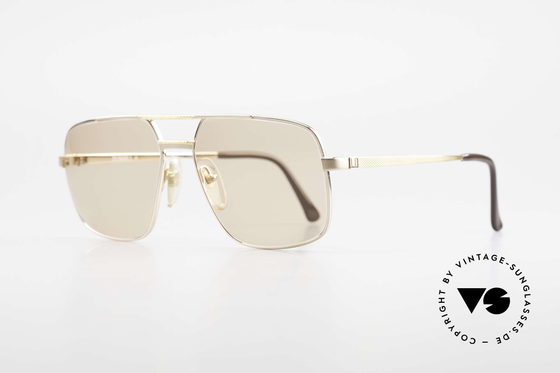 Dunhill 6068 Vergoldete Brille Automatik, Fassung ist hart-vergoldet und mit Barley-Facetten, Passend für Herren