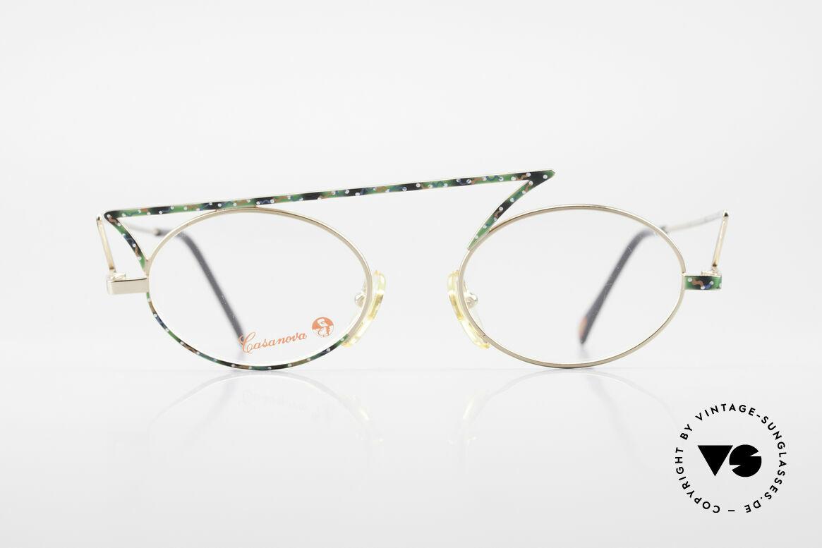 Casanova LC30 ZickZack Brille True Vintage, zackige ZickZack Casanova vintage Brille von circa 1985, Passend für Herren und Damen