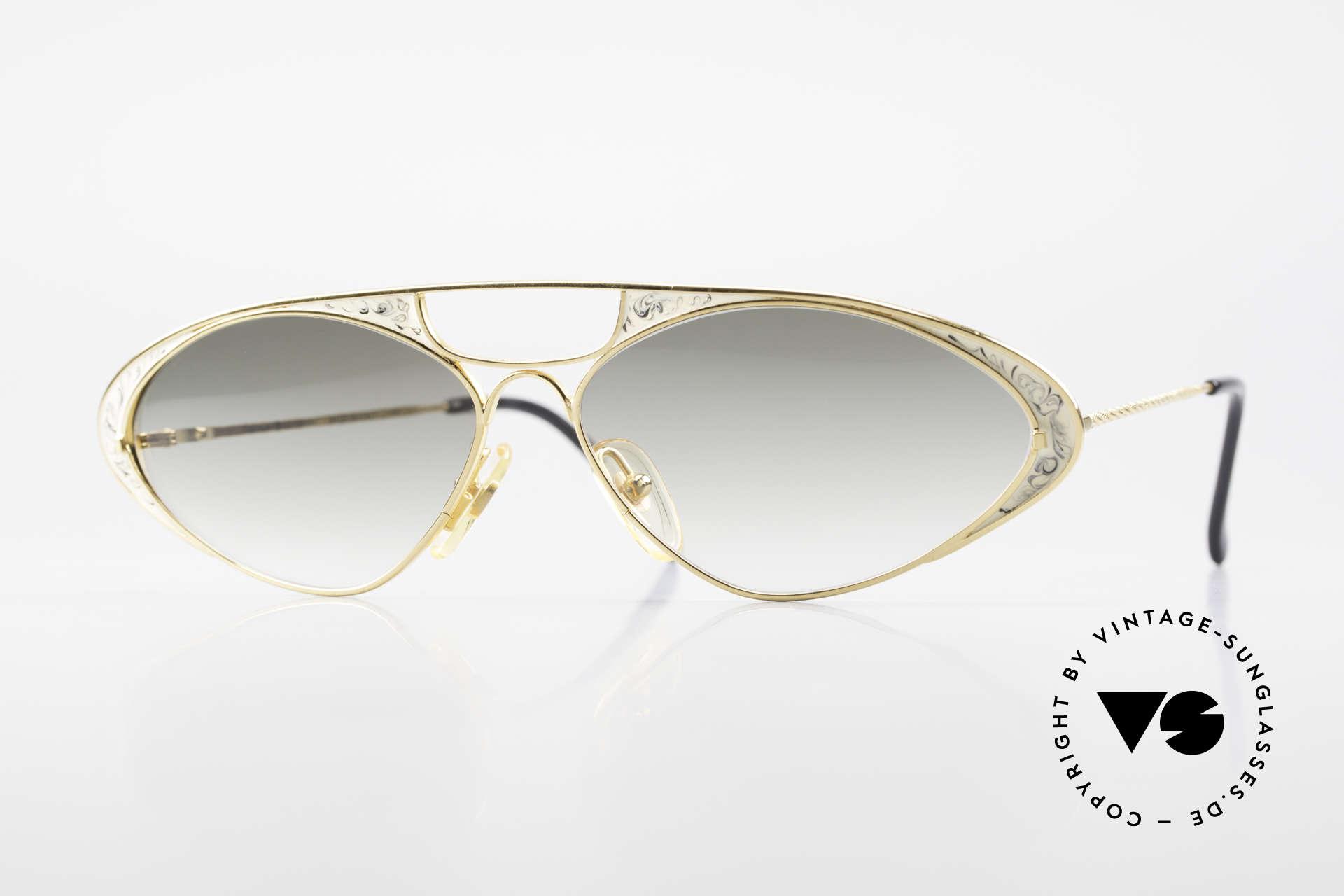 Casanova LC8 Vintage Sonnenbrille Damen, zauberhafte CASANOVA Designerbrille von circa 1985, Passend für Damen