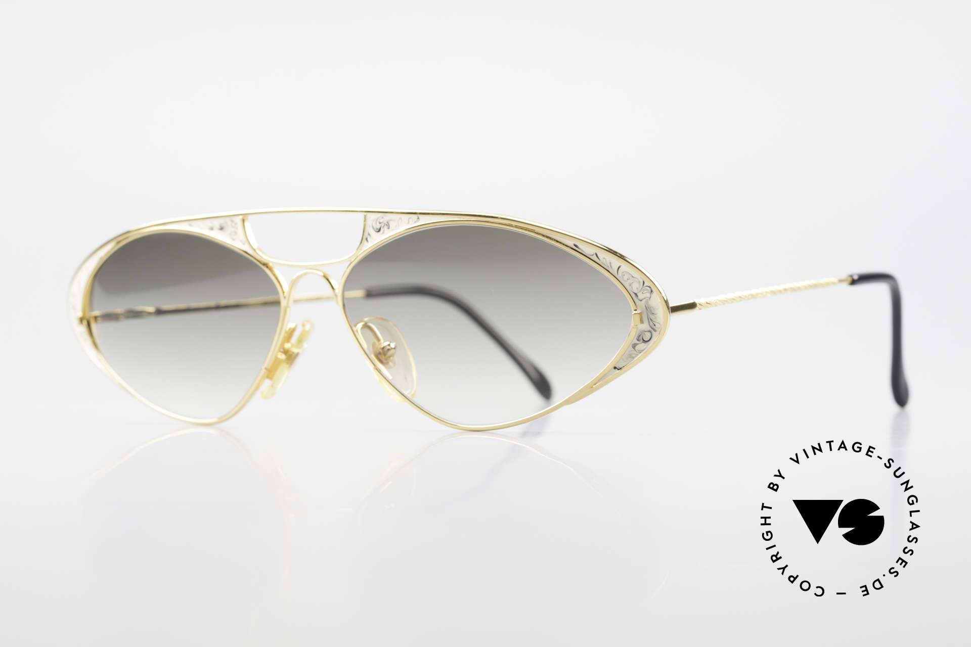Casanova LC8 Vintage Sonnenbrille Damen, vergoldeter Rahmen mit grandiosen Verlaufsgläsern, Passend für Damen