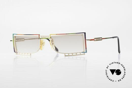 Casanova LC4 Eckige Vintage Sonnenbrille Details