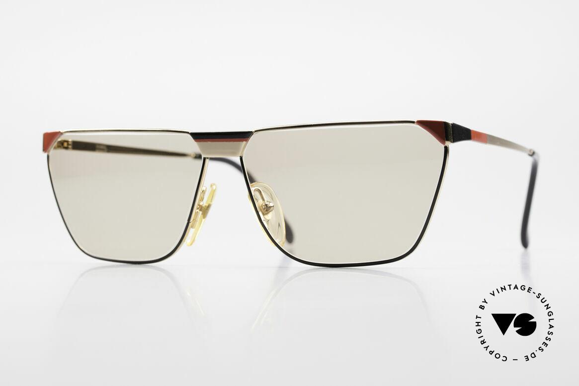 Casanova MC2 24KT Goldplattierte Fassung, italienische 1980er Vintage-Sonnenbrille von Casanova, Passend für Herren