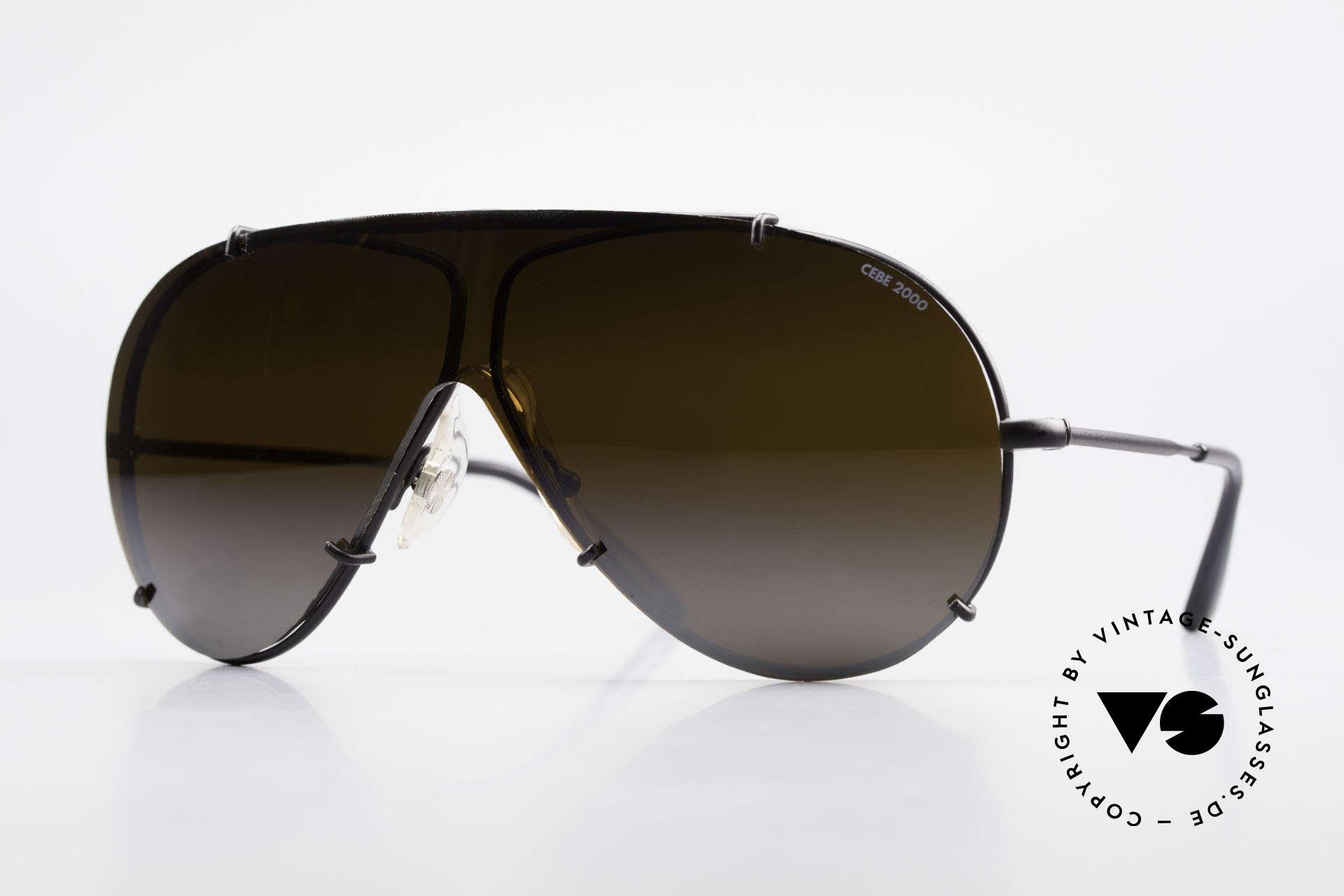 Cebe 2000 Vintage Rallye Sportbrille, teure CEBE Sportsonnenbrille für den extremen Einsatz, Passend für Herren