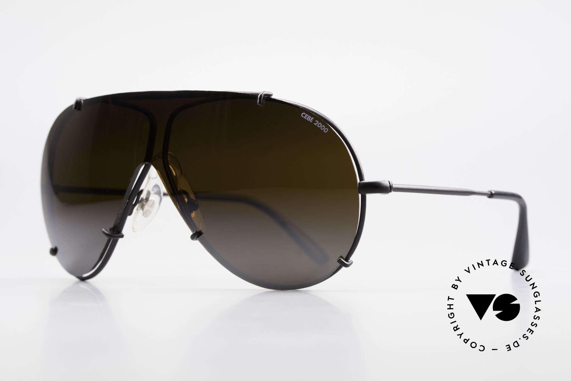 Cebe 2000 Vintage Rallye Sportbrille, verspiegelter Sonnenschutz; gemacht für intensive Sonne, Passend für Herren
