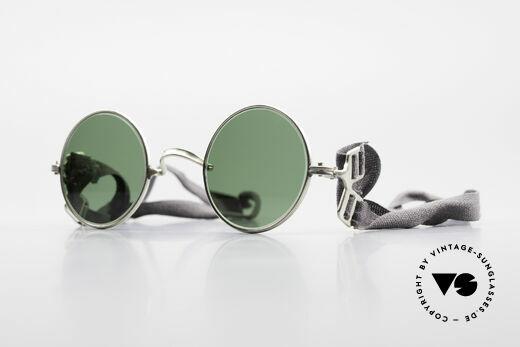 Militärbrille Round Alte Armee Brille Steampunk Details