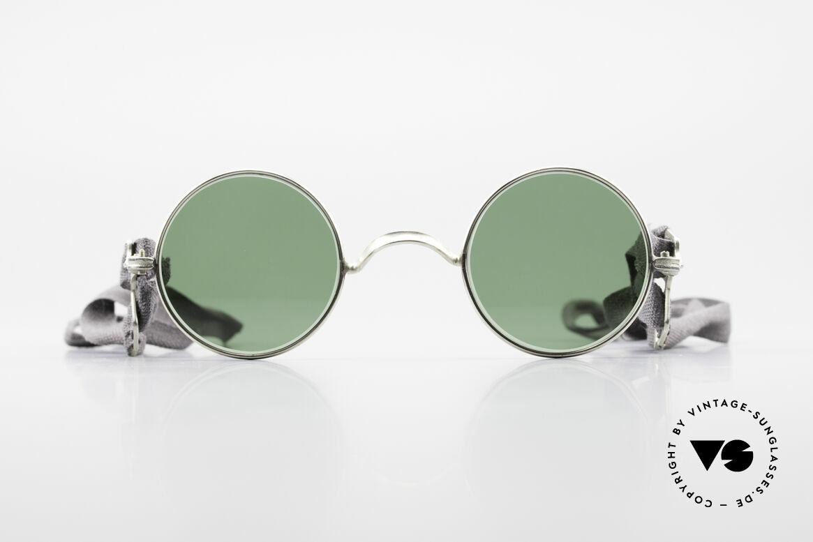 Militärbrille Round Alte Armee Brille Steampunk, alte, antike Armee-Sonnenbrille aus den 1960ern, Passend für Herren