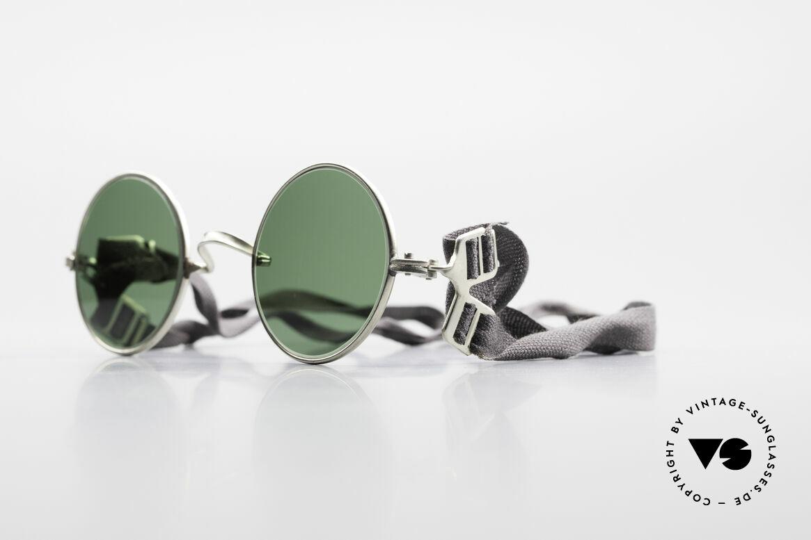 Militärbrille Round Alte Armee Brille Steampunk, eher eine SPASS-Brille für ein Steampunk-Outfit, Passend für Herren
