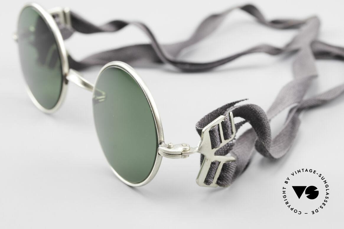 Militärbrille Round Alte Armee Brille Steampunk, 2nd hand Modell mit neuen Gläsern und Hartetui, Passend für Herren