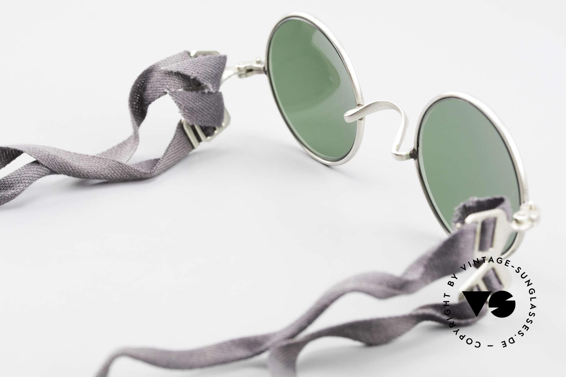 Militärbrille Round Alte Armee Brille Steampunk, Größe: extra small, Passend für Herren