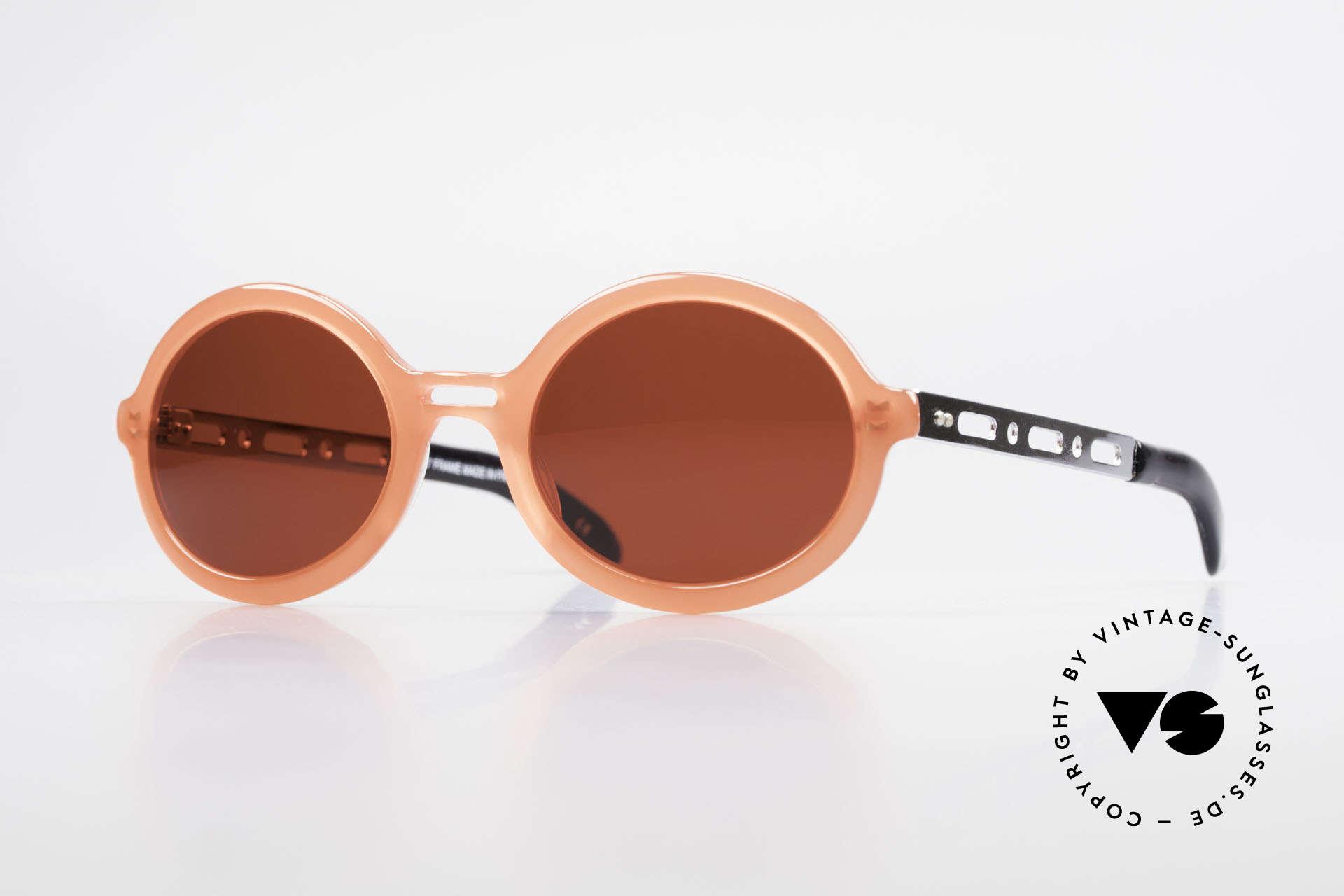 IDC I067 Spassbrille Steampunk 90er, 'spacy' vintage IDC Designer-Sonnenbrille, Frankreich, Passend für Damen