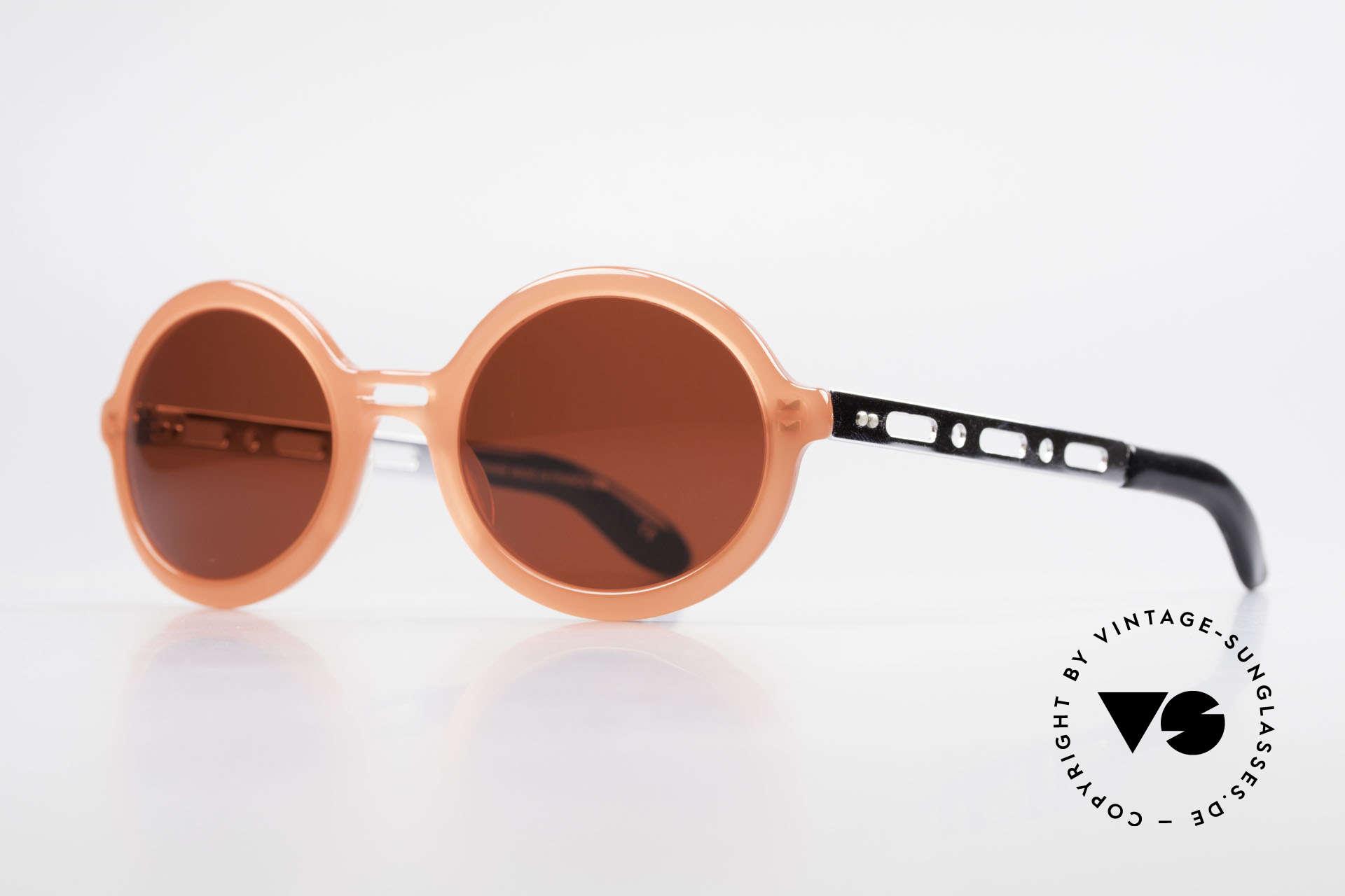 IDC I067 Spassbrille Steampunk 90er, die knalligen Sonnengläser sind beliebig austauschbar, Passend für Damen