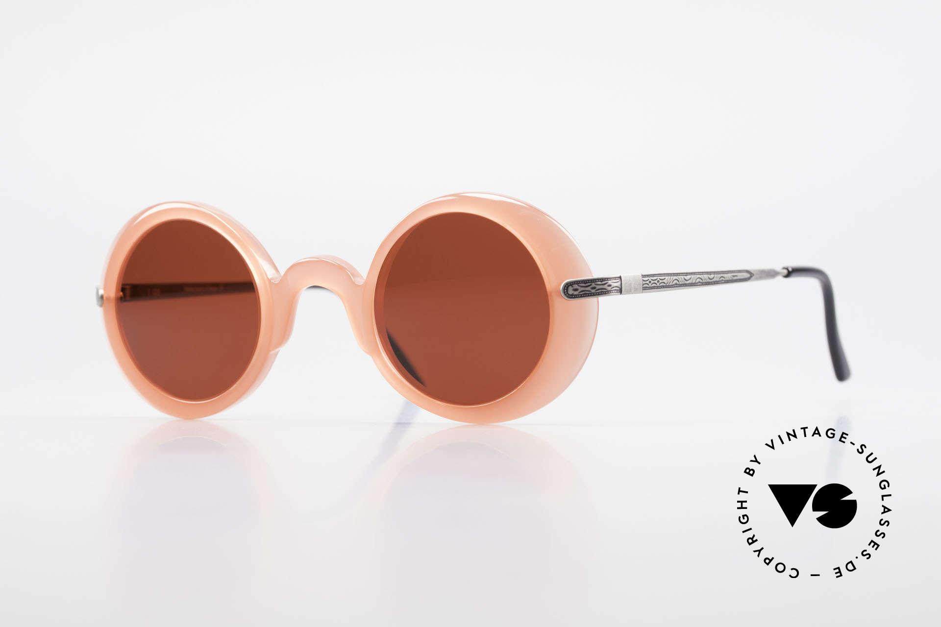 IDC I025 90er Spassbrille Steampunk, 'spacy' vintage IDC Designer-Sonnenbrille, Frankreich, Passend für Damen