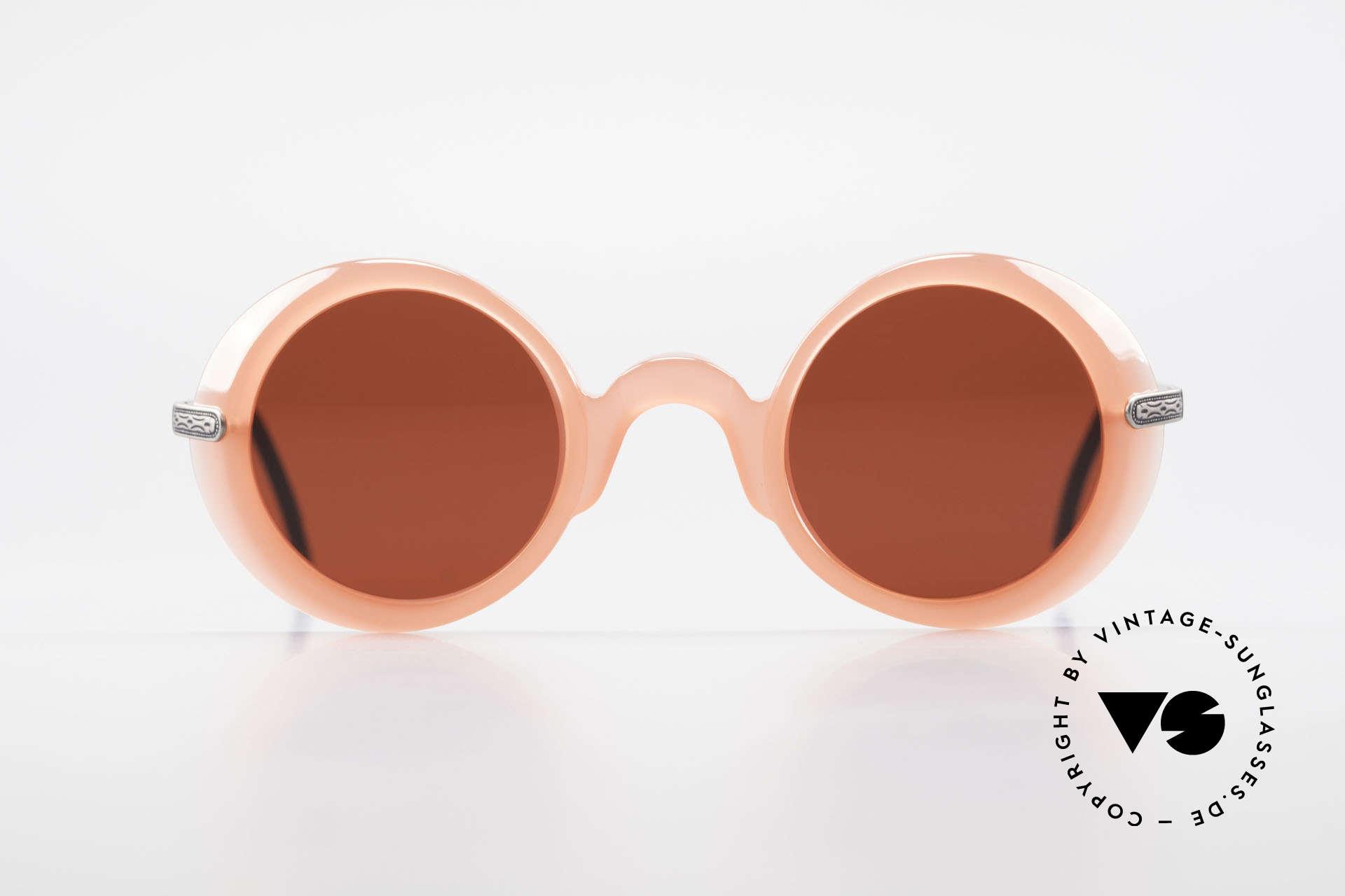IDC I025 90er Spassbrille Steampunk, schrille Sonnengläser in 3D-Rot; eher eine Spassbrille, Passend für Damen