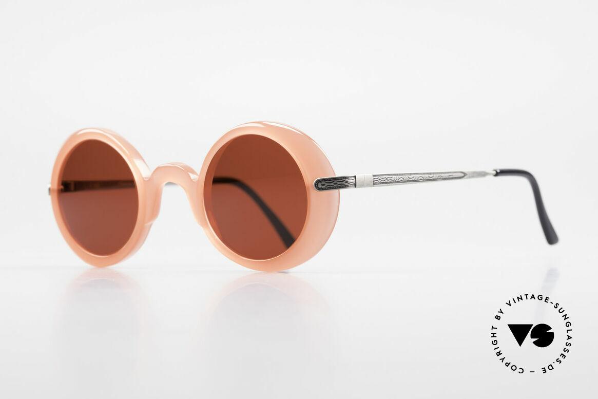 IDC I025 90er Spassbrille Steampunk, die knalligen Sonnengläser sind beliebig austauschbar, Passend für Damen