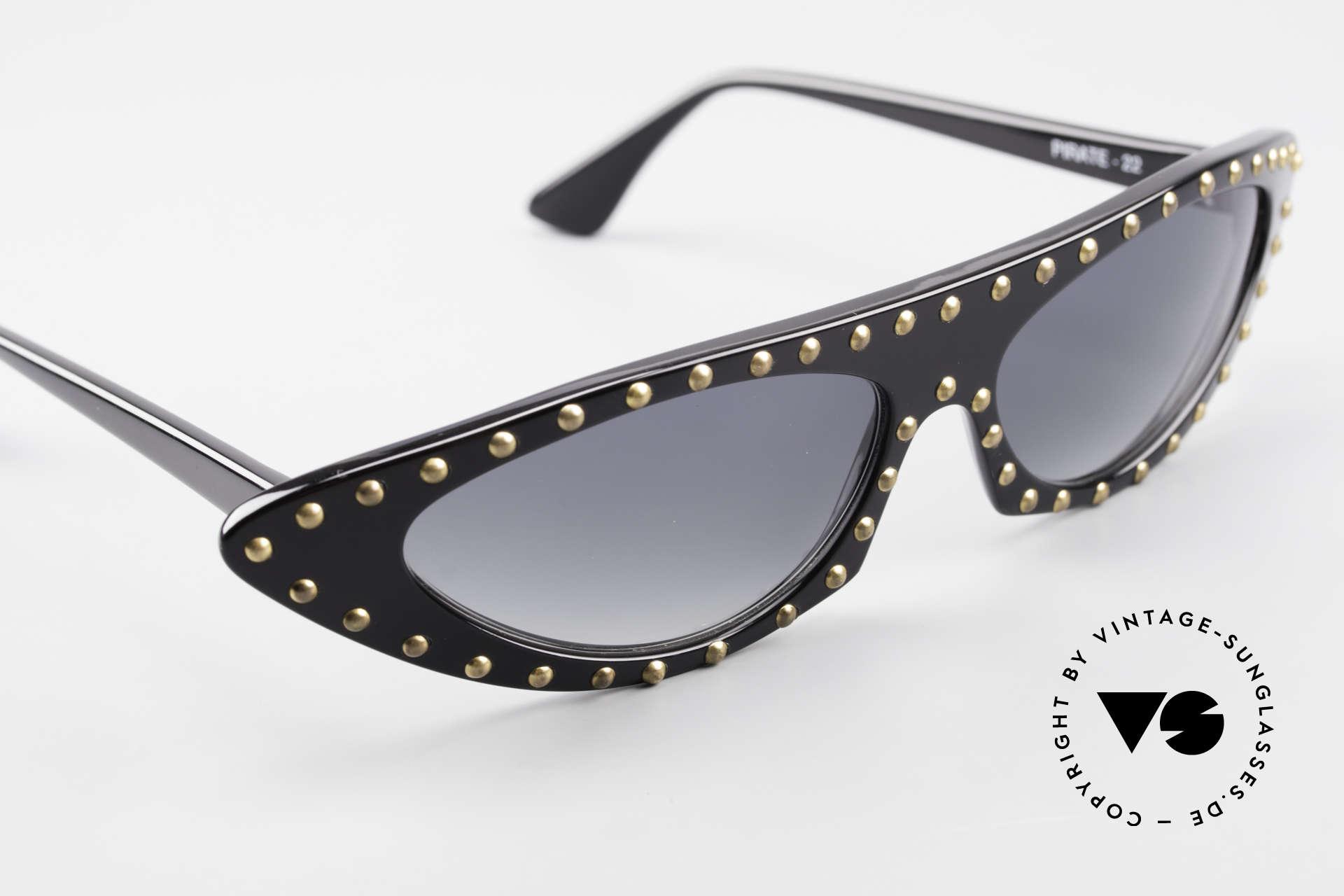 Patrick Kelly Pirate 22 80er Haute Couture Brille, KEINE RETRObrille, sondern ein 80er Jahre Original, Passend für Damen