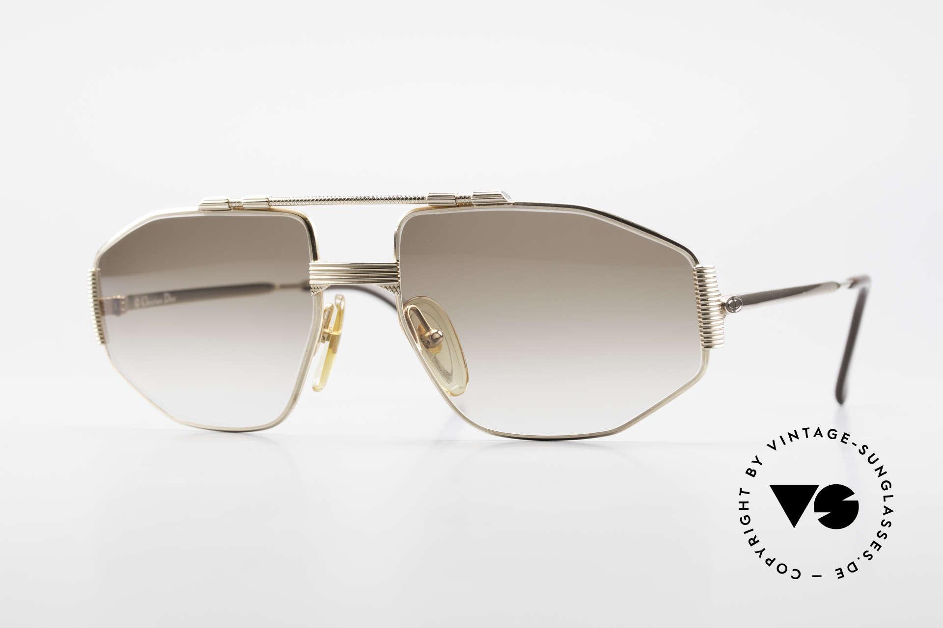 Christian Dior 2516 Vergoldete Sonnenbrille 80er, markante Christian Dior vintage Fassung von 1986, Passend für Herren
