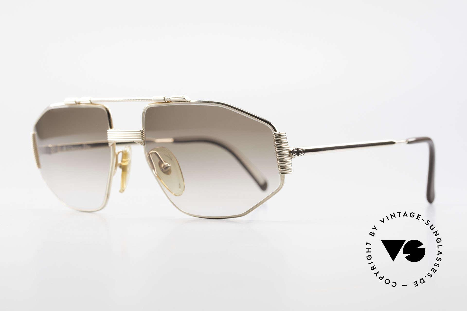 Christian Dior 2516 Vergoldete Sonnenbrille 80er, meisterlich gefertigtes Gestell (HART-VERGOLDET), Passend für Herren