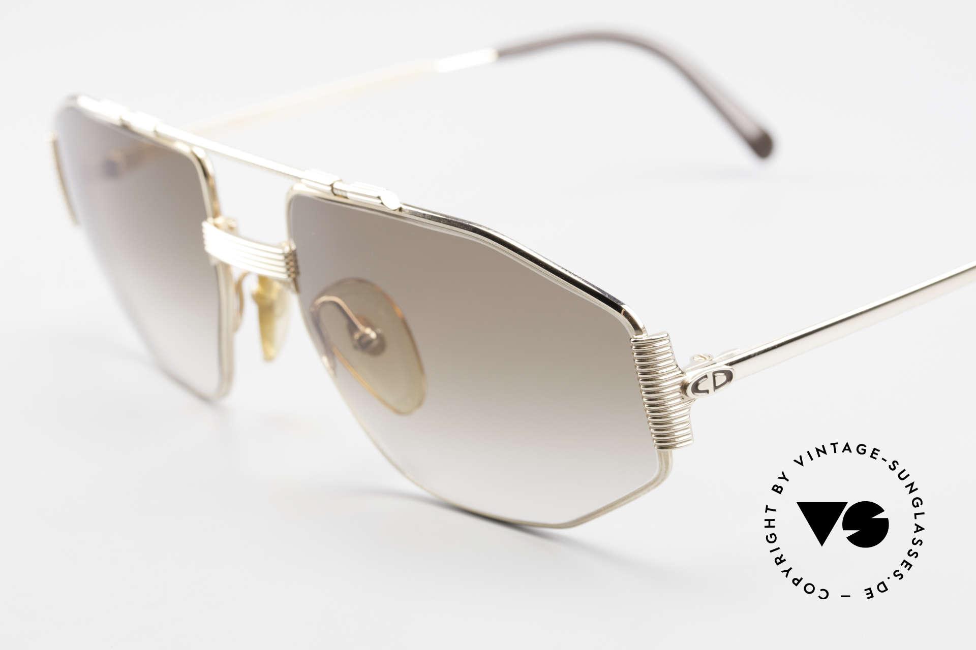 Christian Dior 2516 Vergoldete Sonnenbrille 80er, ungetragen (wie alle unsere C. Dior Brillengestelle), Passend für Herren