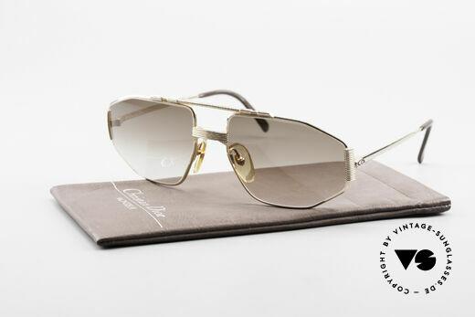 Christian Dior 2516 Vergoldete Sonnenbrille 80er, Sonnengläser in braun-Verlauf mit 100% UV Schutz, Passend für Herren
