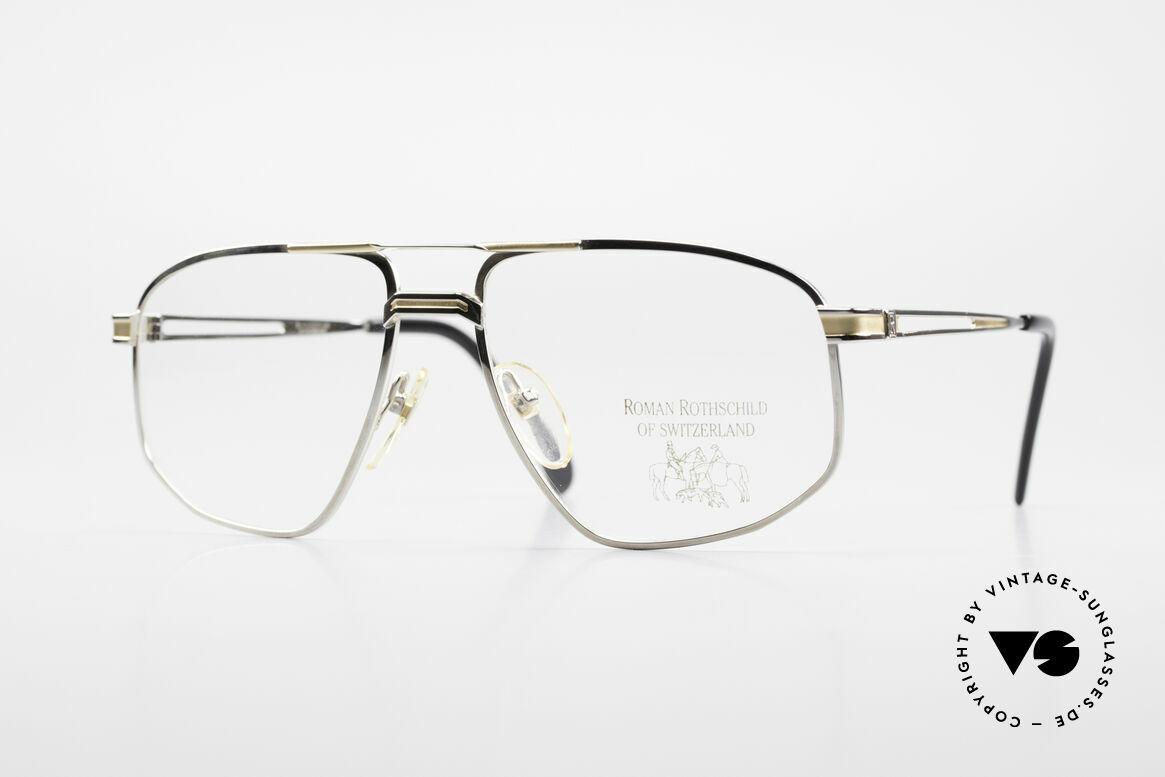 Roman Rothschild R11 Palladium Fassung Mit 18kt, Roman Rothschild of Switzerland Luxus-Brillenfassung, Passend für Herren