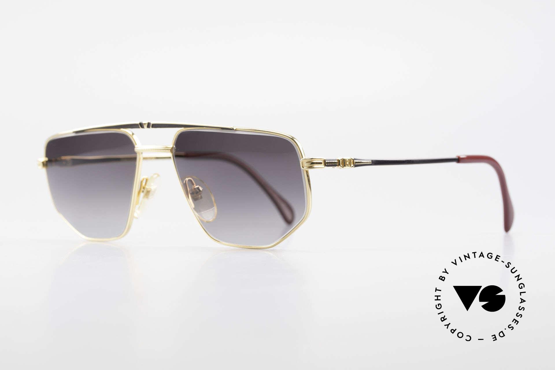 Roman Rothschild R1037 Vergoldete Sonnenbrille Luxus, entsprechend hohe Qualität dieses 80er Jahre Modells, Passend für Herren und Damen