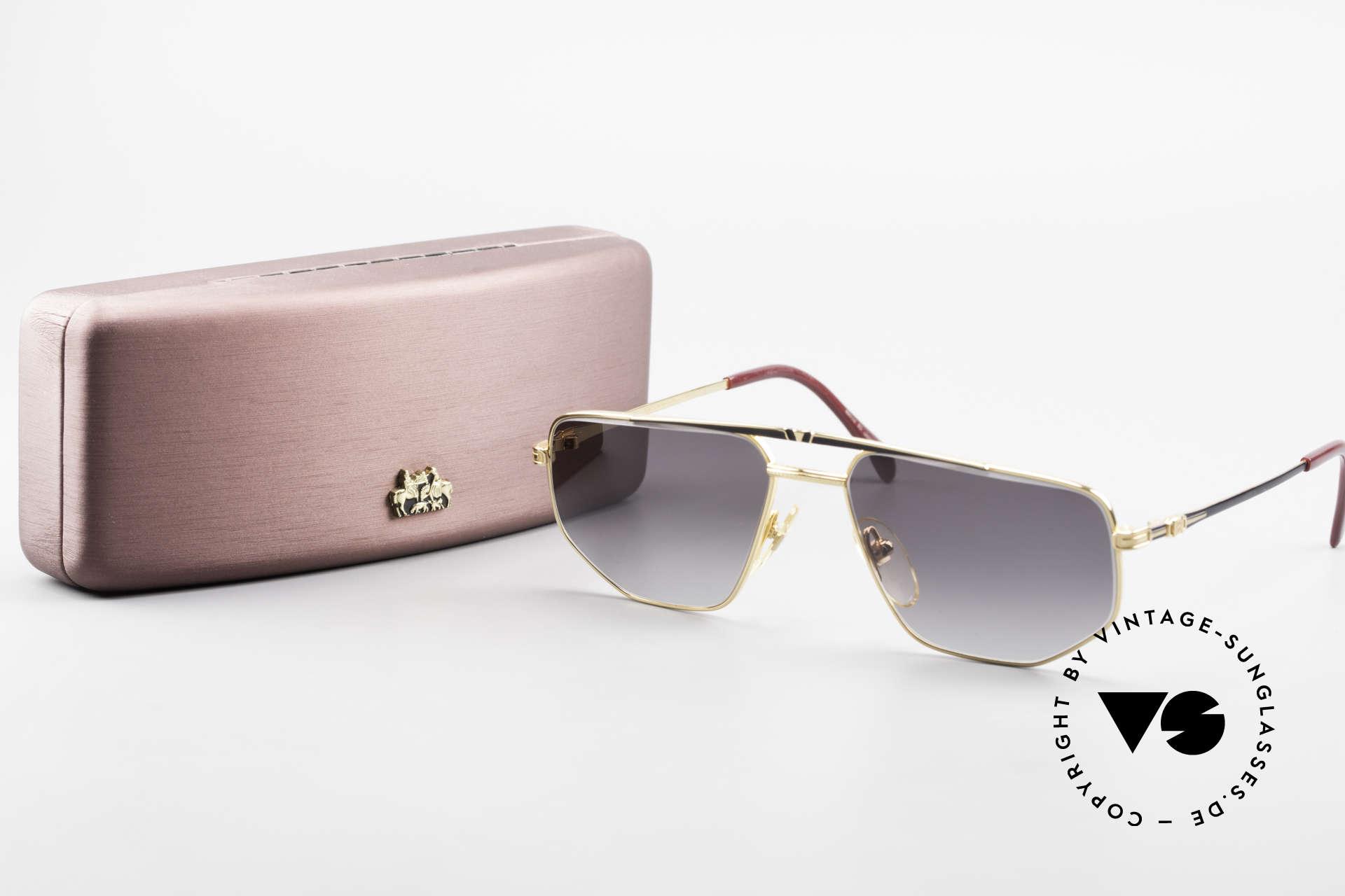 Roman Rothschild R1037 Vergoldete Sonnenbrille Luxus, Sonnengläser können ggf. durch optische ersetzt werden, Passend für Herren und Damen