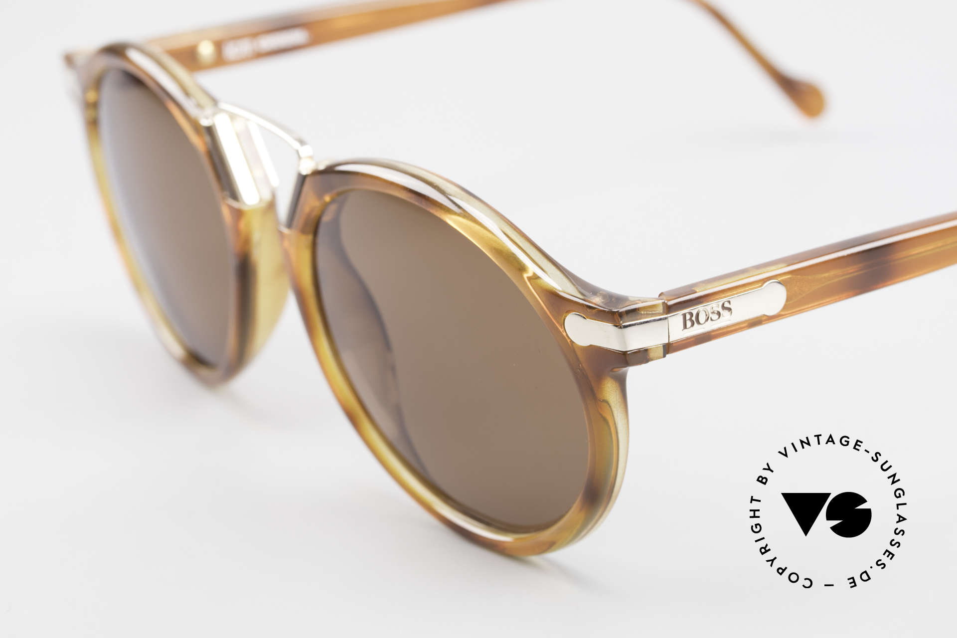 BOSS 5151 90er Panto Style Sonnenbrille, interessante Rahmen-Konstruktion im Panto-Style, Passend für Herren