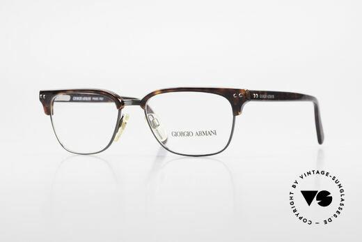 Giorgio Armani 381 Vintage Brille Clubmaster Stil Details