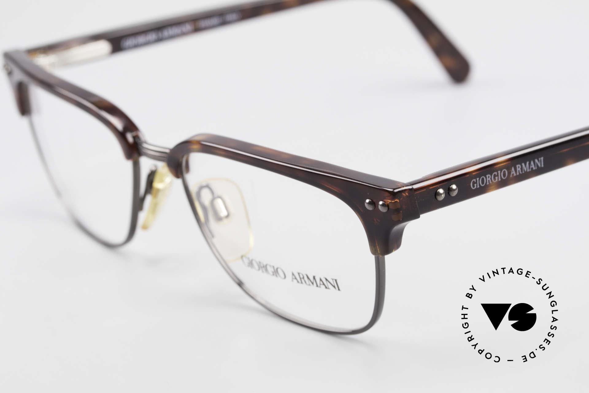 Giorgio Armani 381 Vintage Brille Clubmaster Stil, großartige Kombination aus Eleganz & Top-Qualität, Passend für Herren