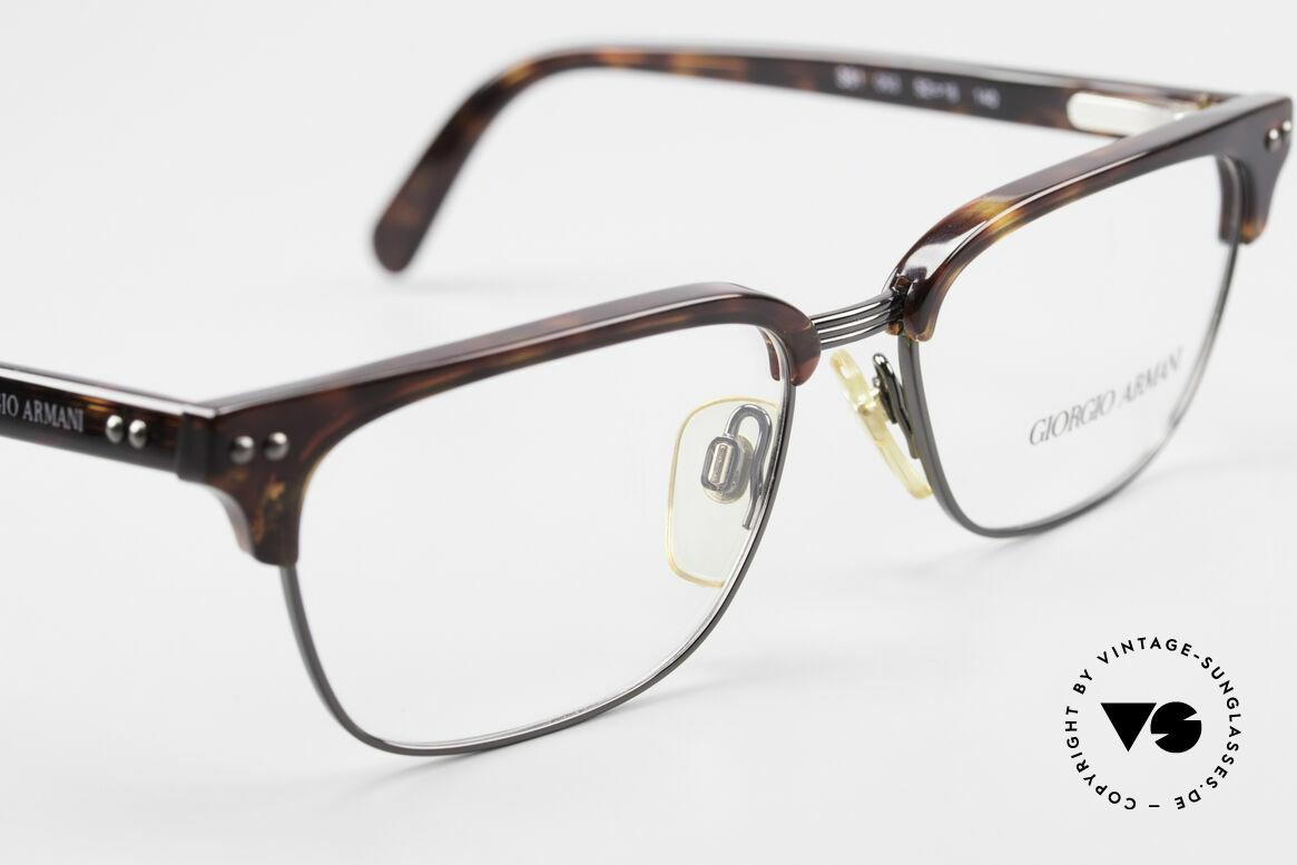 Giorgio Armani 381 Vintage Brille Clubmaster Stil, ungetragen (wie all unsere 90er G. ARMANI Brillen), Passend für Herren