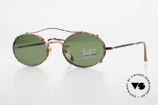 Giorgio Armani 128 Vintage Clip On Sonnenbrille Details
