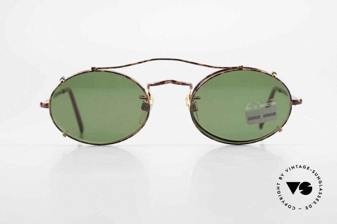 Giorgio Armani 128 Vintage Clip On Sonnenbrille