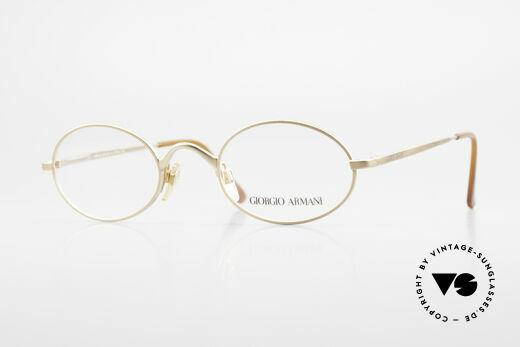Giorgio Armani 122 Vintage Designerbrille Oval Details