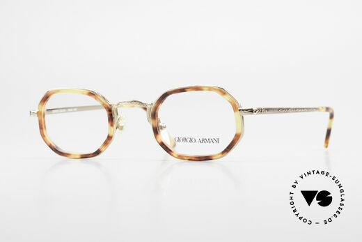 Giorgio Armani 143 Achteckige Vintage Brille 80er Details