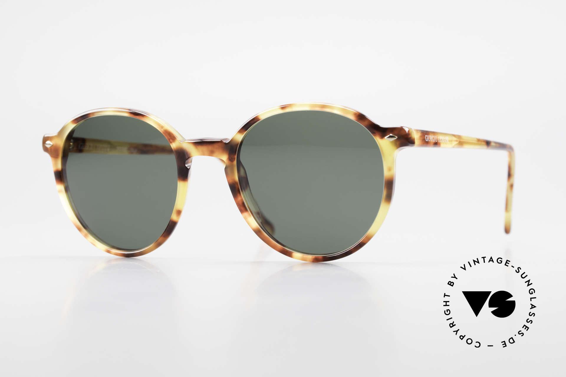 Giorgio Armani 325 Rare 90er Panto Sonnenbrille, zeitlose Panto Giorgio Armani Designer-Sonnenbrille, Passend für Herren und Damen