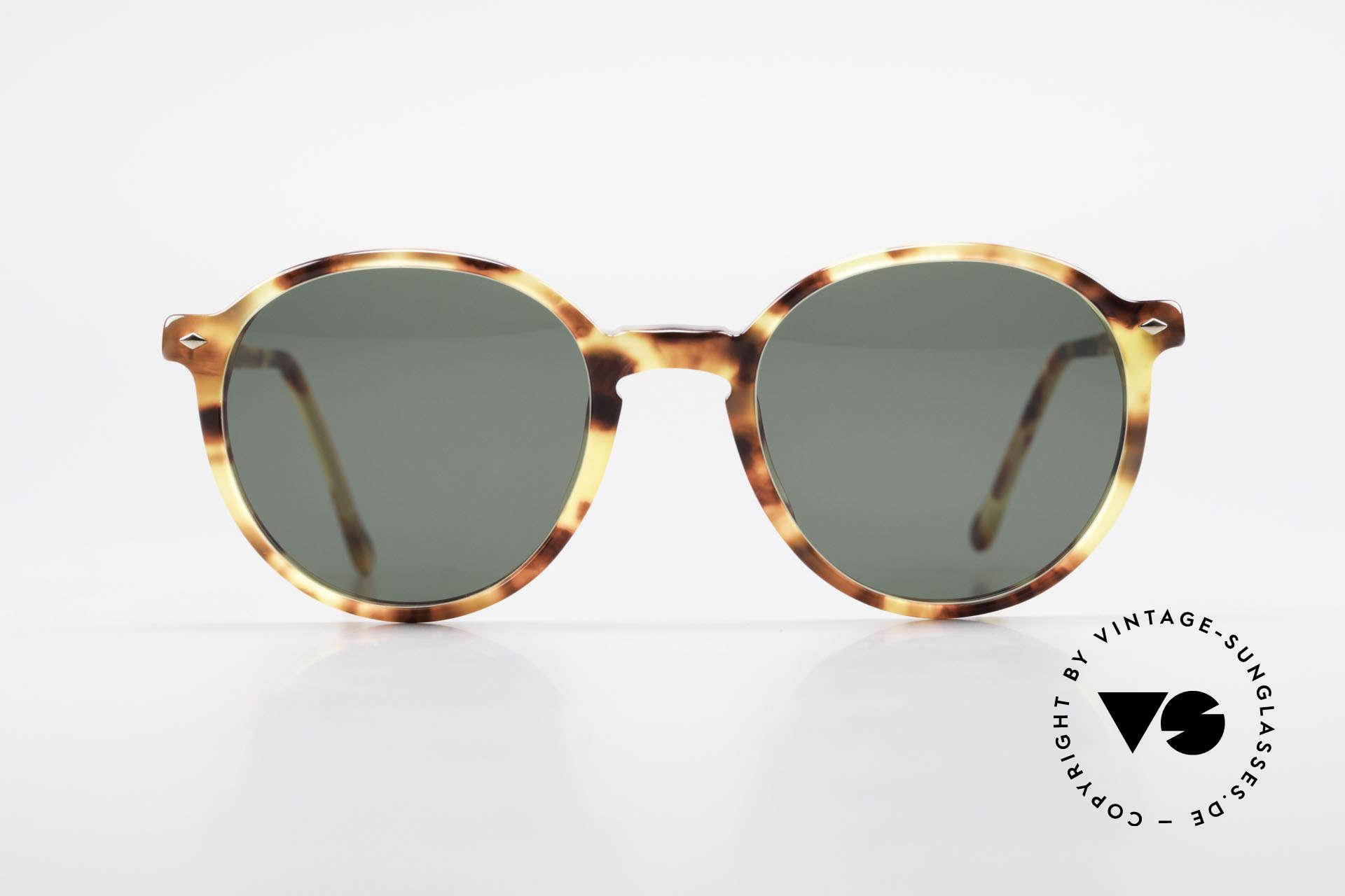 Giorgio Armani 325 Rare 90er Panto Sonnenbrille, klassische Brillenform in PremiumQualität (100% UV), Passend für Herren und Damen