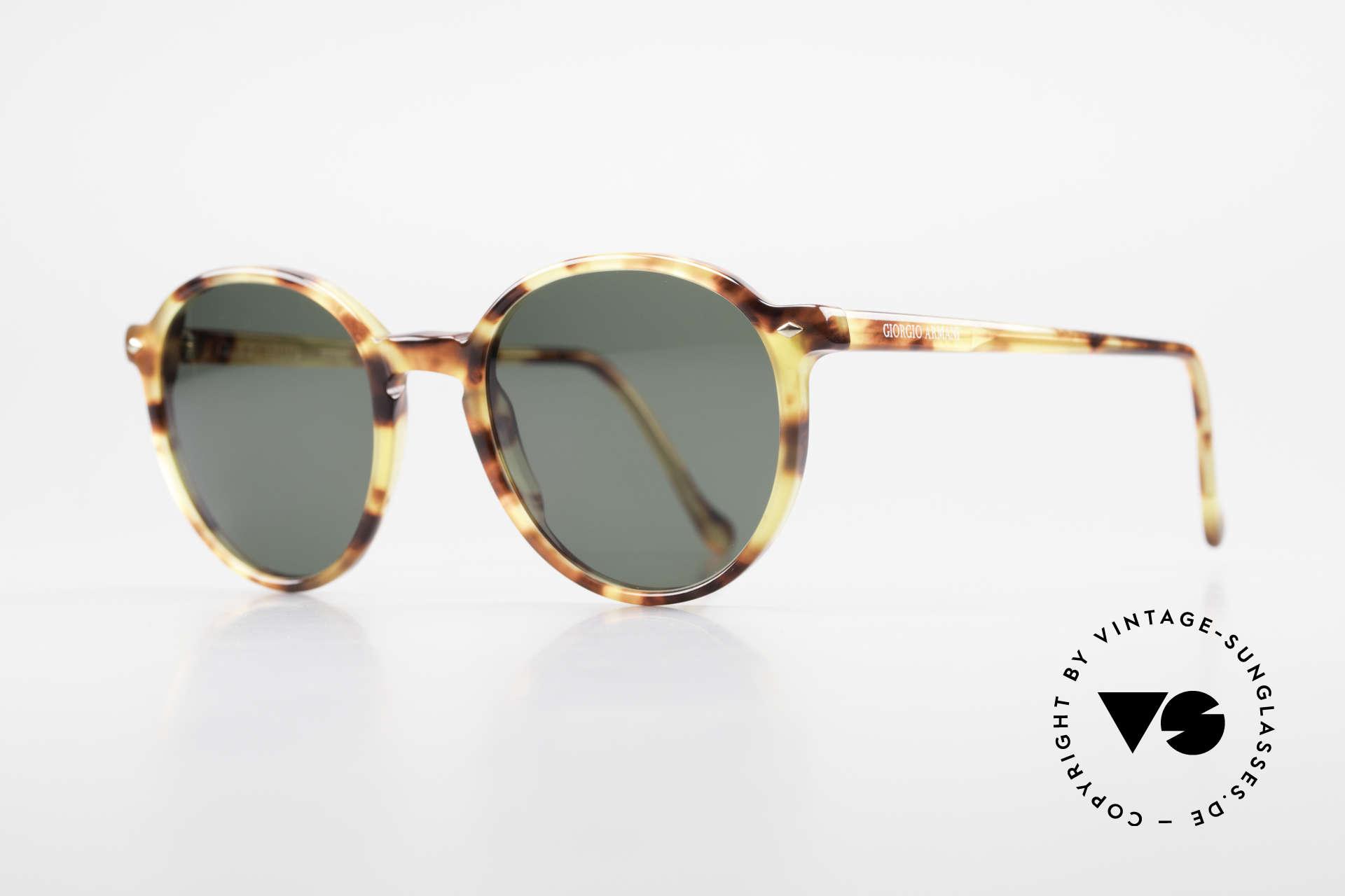 Giorgio Armani 325 Rare 90er Panto Sonnenbrille, sehr interessantes Farbmuster in einer Art Bernstein, Passend für Herren und Damen
