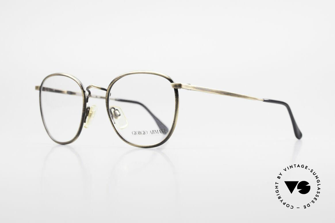 """Giorgio Armani 150 Klassische Herrenbrille 80er, außergewöhnliche Lackierung in """"antik gold""""/messing, Passend für Herren"""