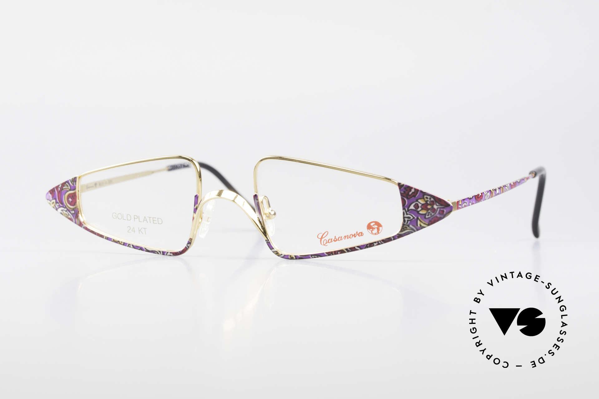 Casanova FC15 24kt Goldplattierte Lesebrille, zauberhafte Casanova Damenbrille von circa 1985, Passend für Damen