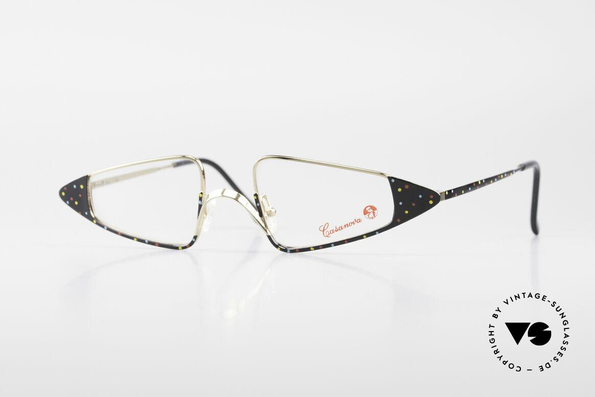 Casanova FC15 Außergewöhnliche Lesebrille, zauberhafte Casanova Damenbrille von circa 1985, Passend für Damen