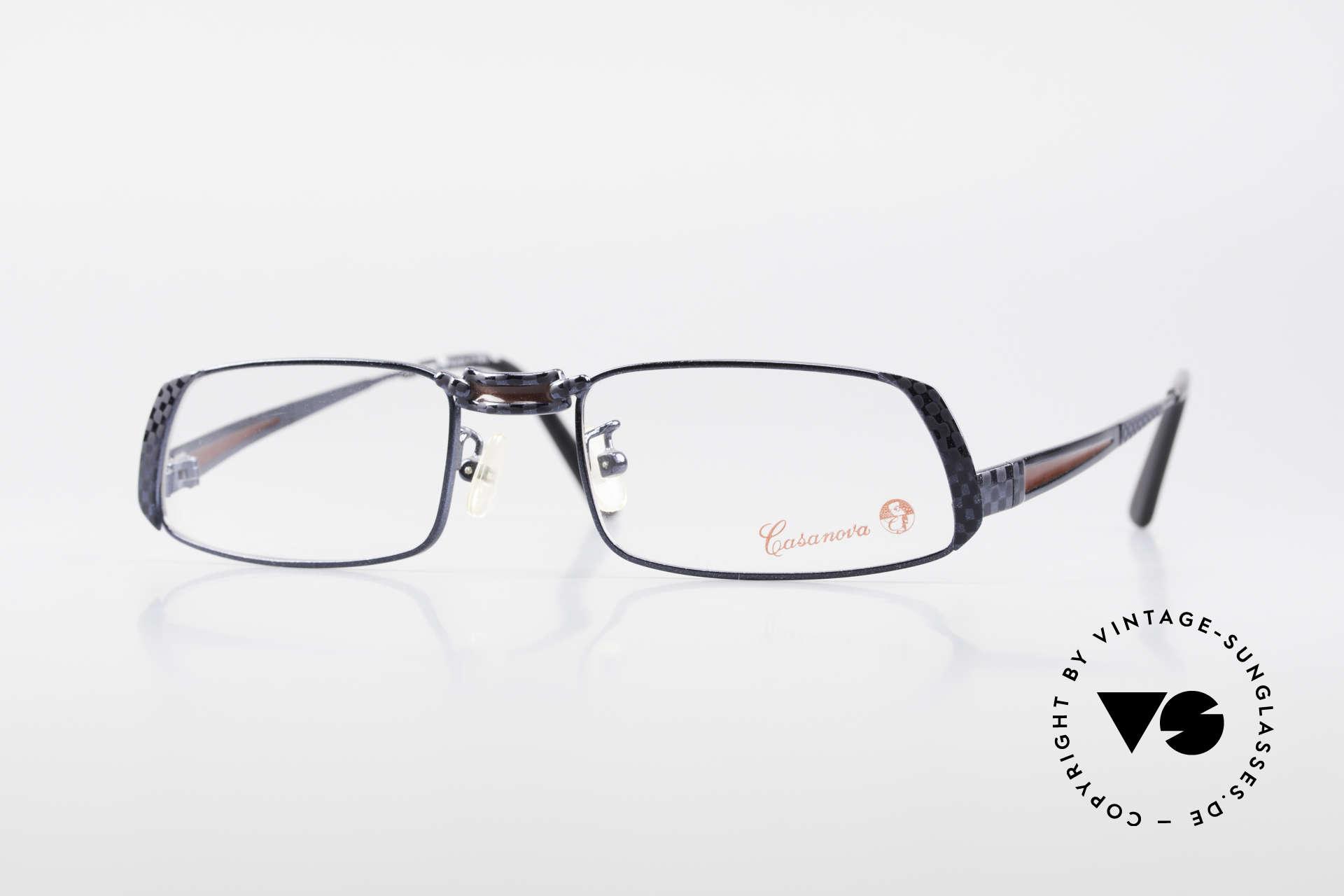 Casanova LC70 Alte Vintage Designer Brille, auffällige Casanova Brillenfassung der frühen 1990er, Passend für Herren und Damen