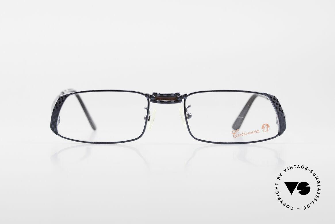 Casanova LC70 Alte Vintage Designer Brille, tolles Zusammenspiel von Farben, Mustern & Formen, Passend für Herren und Damen